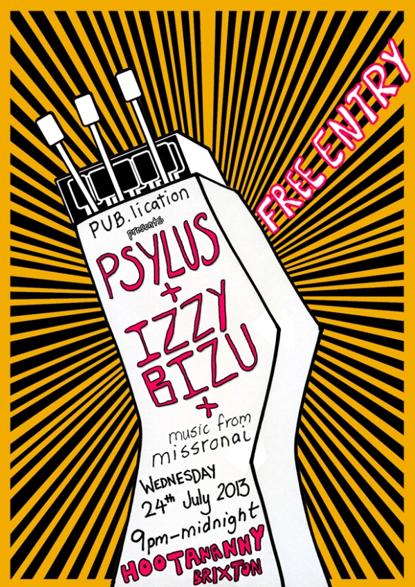 PUBlication Flyer Psylus Izzy Bizu